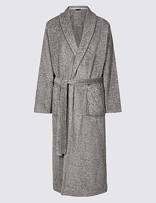 M&S Collection 2in Longer Supersoft Fleece Dressing Gown