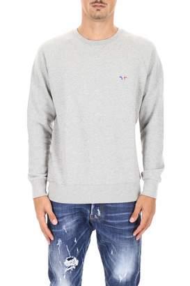 MAISON KITSUNÉ Sweatshirt With Tricolor Fox Patch