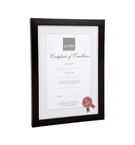 Profile Print And Certificate Timber Photo Frame A4
