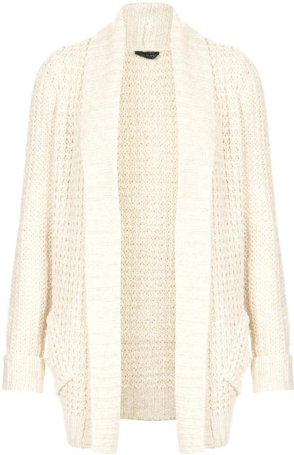 Topshop Knitted Fluffy Shawl Cardi