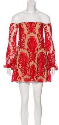 For Love & Lemons Tulle Damask Dress