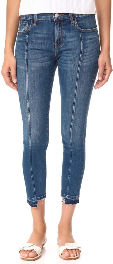 J Brand Mid Rise Skinny Jeans