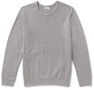 Schiesser Anton Mélange Loopback Cotton-Jersey Sweatshirt