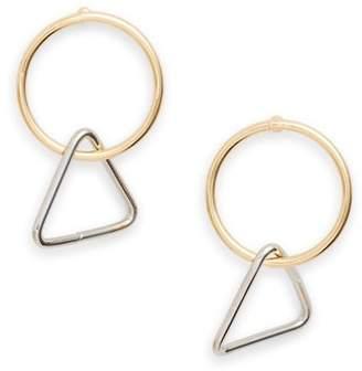 Loren Olivia Mini Triangle Hoop Earrings