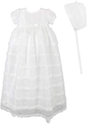 C.I. Castro & Co 'Eyelash' Christening Gown & Bonnet