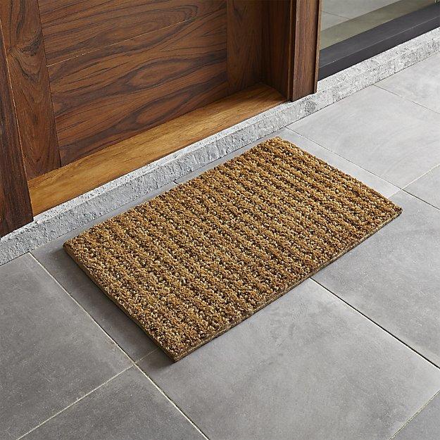 """Crate & Barrel Knotted 30""""x18"""" Doormat"""