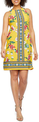 Studio 1 Sleeveless Floral Shift Dress