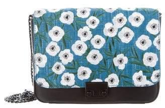 Loeffler Randall Embroidered Lock Shoulder Bag