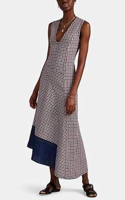 Derek Lam Women's Checked Cotton-Wool Jacquard Midi-Dress - Red Multi