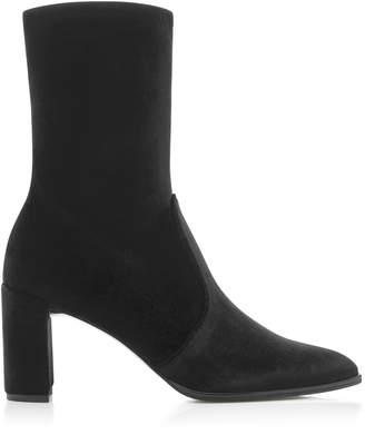 Stuart Weitzman Prancer Stretch-Velvet Boots