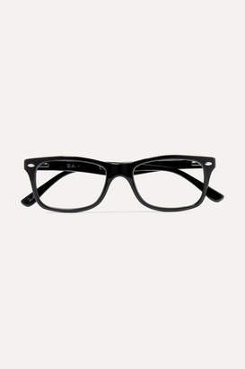 Ray-Ban Square-frame Acetate Optical Glasses - Black