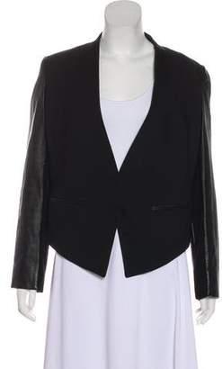 Helmut Lang Leather Sleeve Wool Blazer