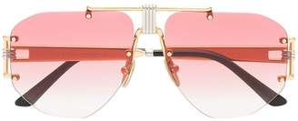 Celine pink Aviator metal sunglasses
