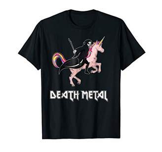 Heavy Metal Tee - Unicorn Rainbow Clouds Death Metal T-Shirt