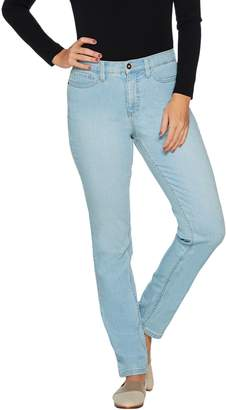 Denim & Co. Studio by Petite Classic Denim Straight Leg Jeans