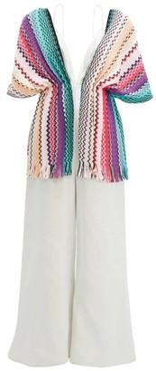 M Missoni Vintage Scarf Lame Jumpsuit - Womens - Purple Multi