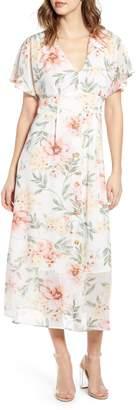 Leith Floral Print Midi Dress