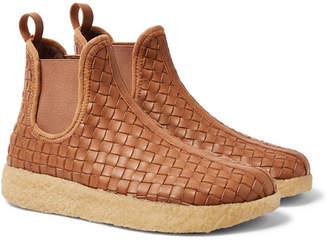 Malibu Garden Woven Faux Leather Boots