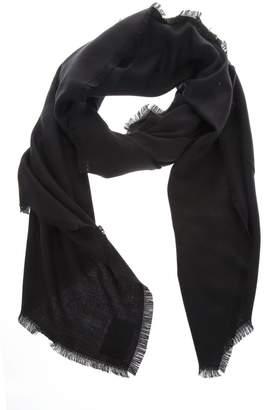 Fendi Black Shawl In Wool