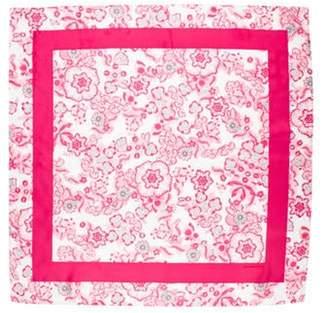 Burberry Silk Square Scarf Magenta Silk Square Scarf