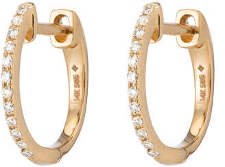 Ariel Gordon Pavé Diamond Huggies Earring