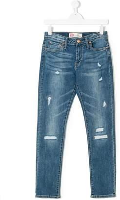 875332037 Levi's Kids Teen ripped skinny jeans