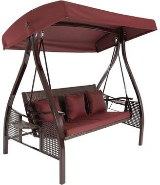 Freeport Park Baylen Steel Frame Cushioned Porch Swing with Stand