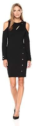 GUESS Women's Long Sleeve Lila Snap Dress