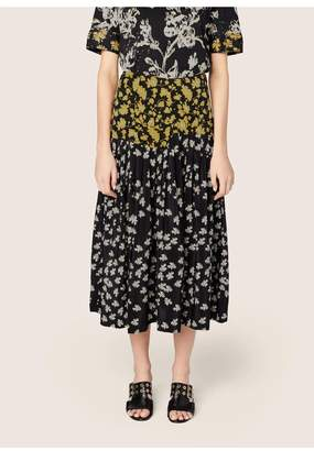 Derek Lam Pleated Skirt With Foldover Waist Detail