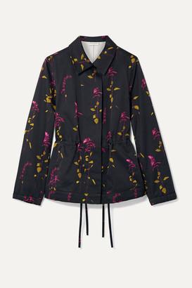 Dries Van Noten Varella Floral-print Cotton-twill Jacket - Black
