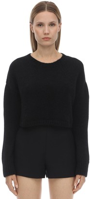 Valentino CROPPED ALPACA BLEND KNIT SWEATER