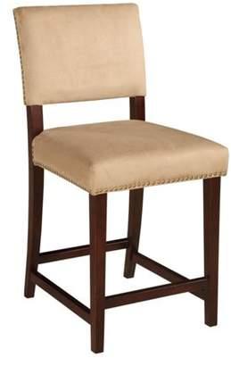 Linon Corey Bar Stool, Stone, 30 inch Seat Height