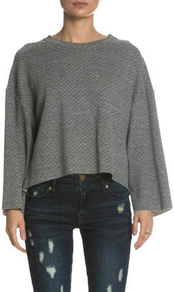 Elan International Grey Bell-Sleeve Sweater