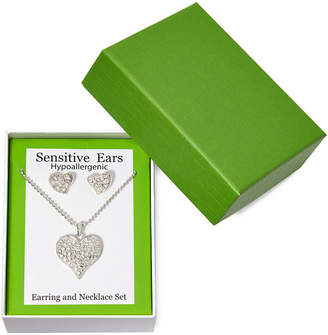 MIXIT Sensitive Ears Heart Earring and Necklace Set