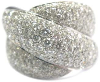 Damiani Gomitolo 18K White Gold with 3.66ct Diamond Ring Size 7.5