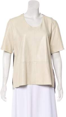 Mason Leather Short Sleeve Top