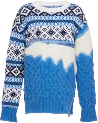 Prabal Gurung Ehe Diamond Knit Sweater