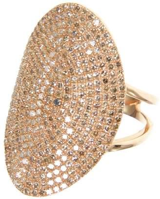 Ri Noor - Large Oval Diamond Pave Ring