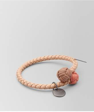 Bottega Veneta Peach Rose Intrecciato Nappa Multicolor Bracelet