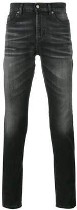 Saint Laurent Black Washed front skinny jeans