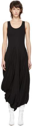 Y/Project Black Jersey Draped Dress
