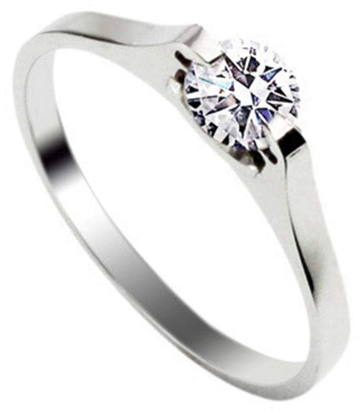SG Stainless Steel Ring With Inlay Diamond For Girls Size8