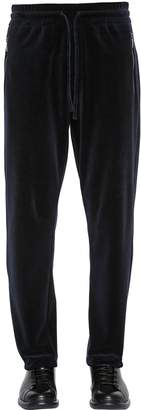 Giorgio Armani Cotton Velvet Sweatpants