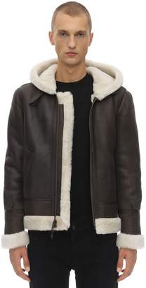 Schott Lc 1259 Hooded Shearling Aviator Jacket