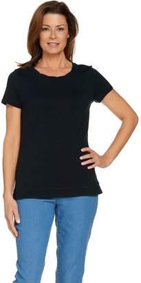 C. Wonder Essentials Slub Knit T-shirt with Neck Detail