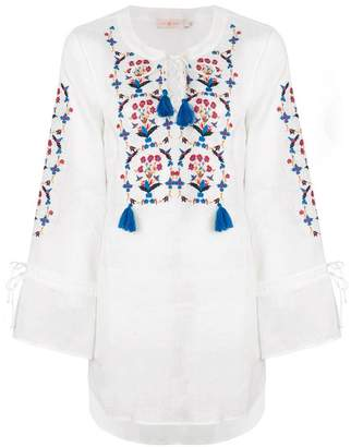 Tory Burch embroidered tassel top