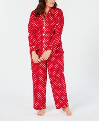 Charter Club Plus Size Notch Neck Pajama Set, Created for Macy's