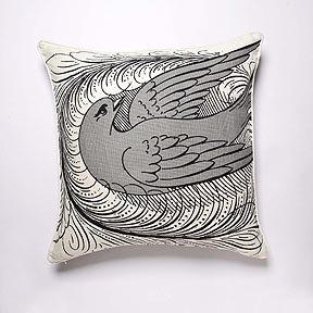 Thomas Paul Flourish Dove Linen Pillow