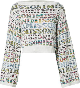 Missoni Logo Cropped Sweater