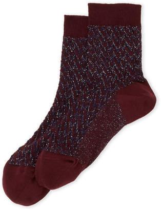 Missoni Lurex Zigzag Crew Socks